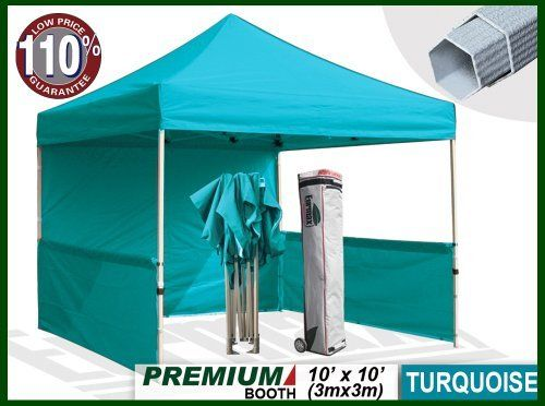 Eurmax Premium Ez Up Canopy Booth Bonus Awning And 4weight Bag 10x10 Feet Turquoise By Eurmax 449 95 Frame Heavy Duty Canopy Canopy Frame Folding Gazebos
