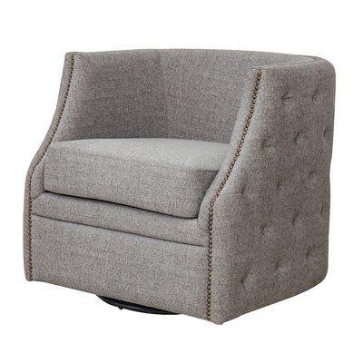 Red Barrel Studio Dichiera Swivel Armchair Swivel Armchair Dining Chair Slipcovers Swivel Barrel Chair