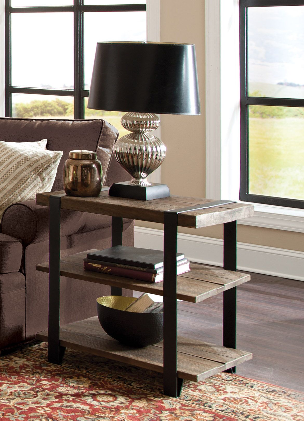 The Modesto End Table will add warmth to any décor with