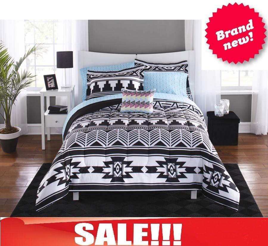 Bed Set In A Bag 6 Pc Comforter College Dorm Room Twin Queen Tribal