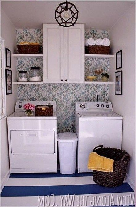30+ Fascinating Small Laundry Room Design Ideas #strandhuis