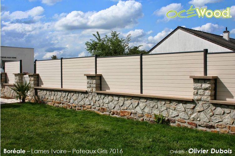 Océwood® - Très jolie petite clôture de jardin en bois composite ...