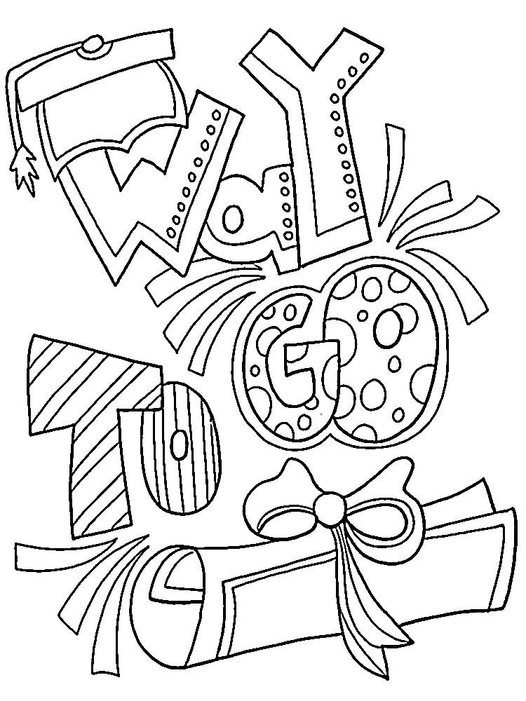 Happy Graduation Coloring Pages. Graduation day is a day