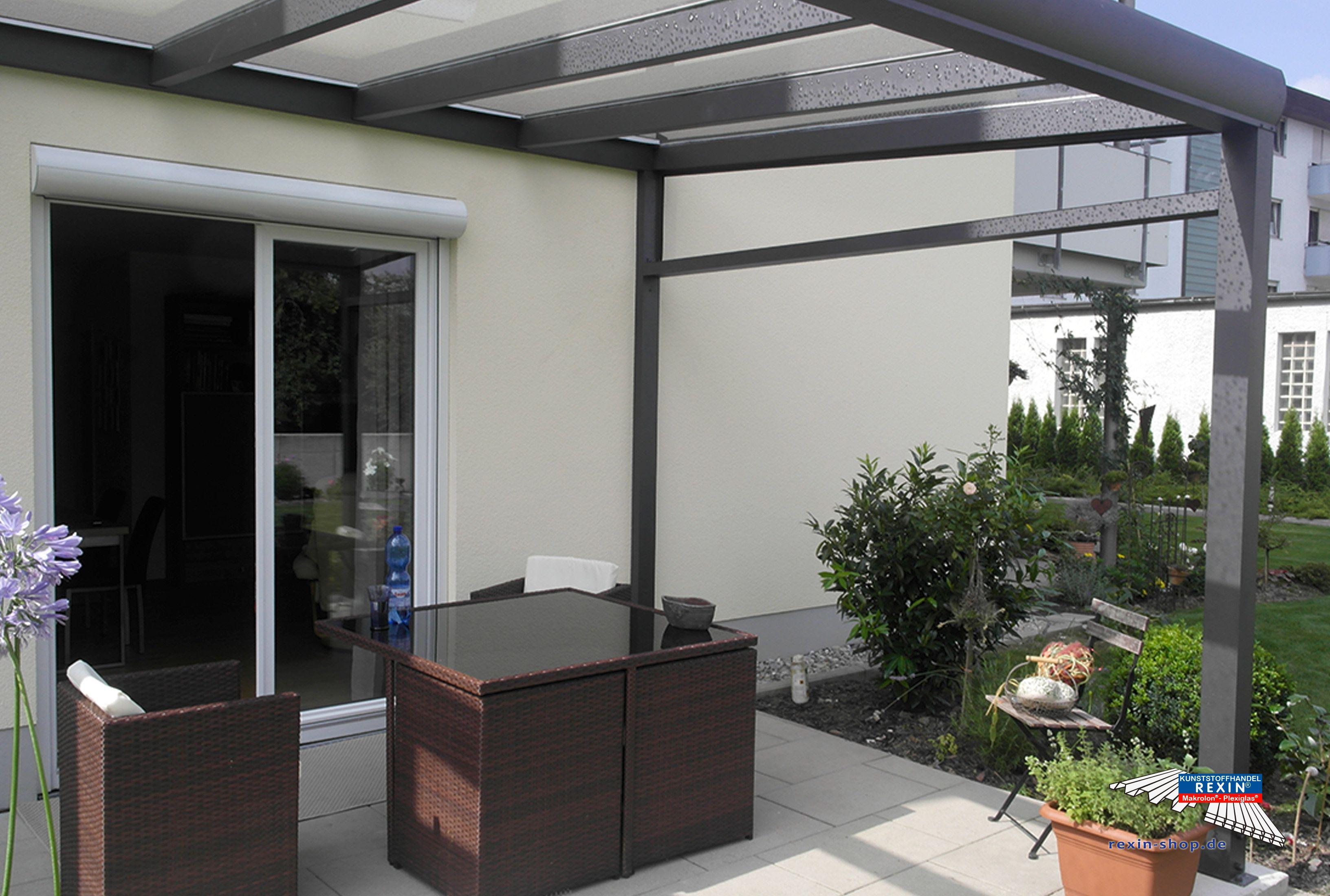 Alu Terrassendach Bausatz ~ Ein alu terrassendach der marke rexopremium titan 4m x 3m in