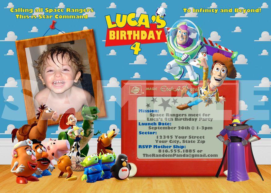 Toy Story Zurg Birthday Party Invitation | buzz & zurg party ...