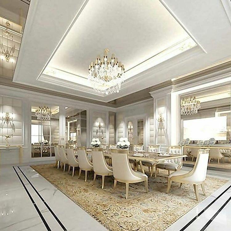 Maxmemari On Instagram سلام دوستان وقتون بخیر طرح های معماری و دکوراسیون داخلی رو ببینید نظر بدین حتما Luxury Dining Room Elegant Dining Room Luxury Dining