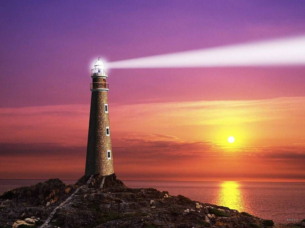 Ocean Lighthouse Lighthouse Ocean Wallpaper Lighthouse