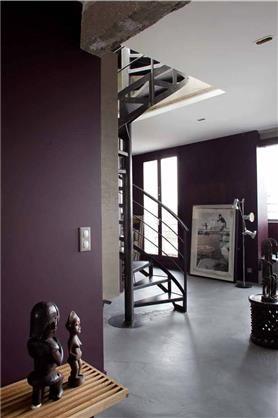 Charme Retro Galerie Photos Tollens Editeur De Couleurs Couleur Aubergine Couleur Salon Interieur Neoclassique