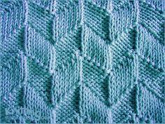 Modèle de point de parallélogramme |  Tricot et tricoter points