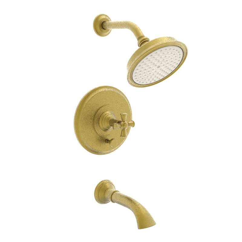 Newport Brass 3-2402BP Single Handle Tub and Shower Valve Trim with Tub Spout S Satin Gold (PVD) Faucet Tub and Shower Single Handle
