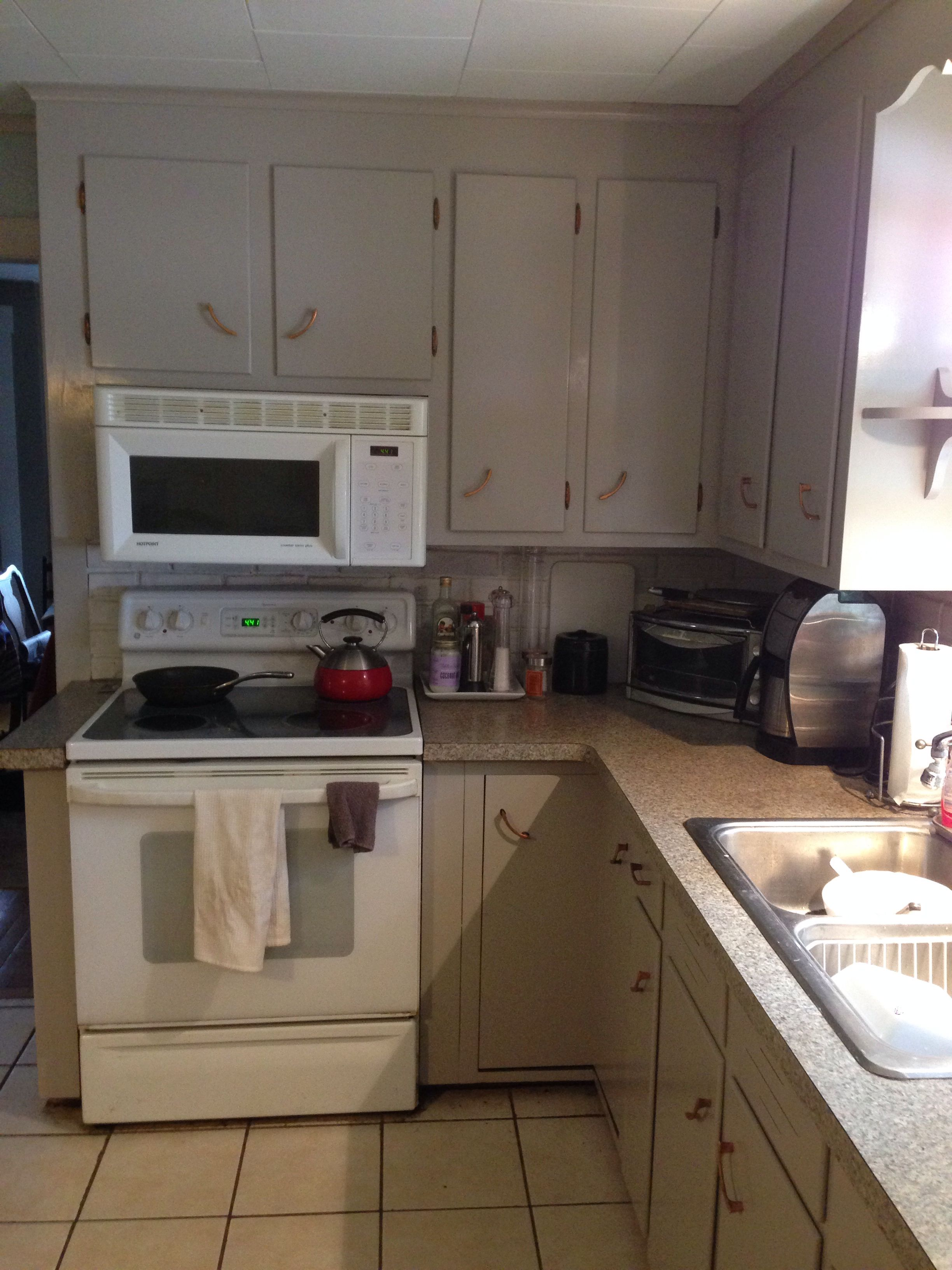 """Finished kitchen! Cabinets painted by """"Three Masons ..."""