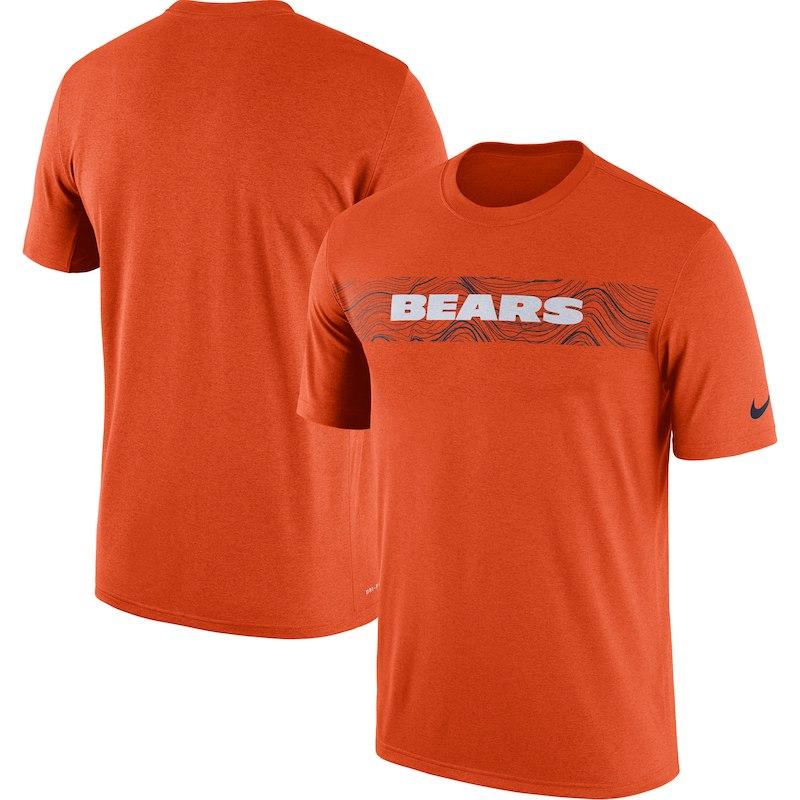1a9aff1f5 Chicago Bears Nike Sideline Seismic Legend Performance T-Shirt – Orange