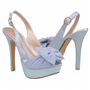 Women's Allure Bridals Sunrise Blue Satin Shoes.com