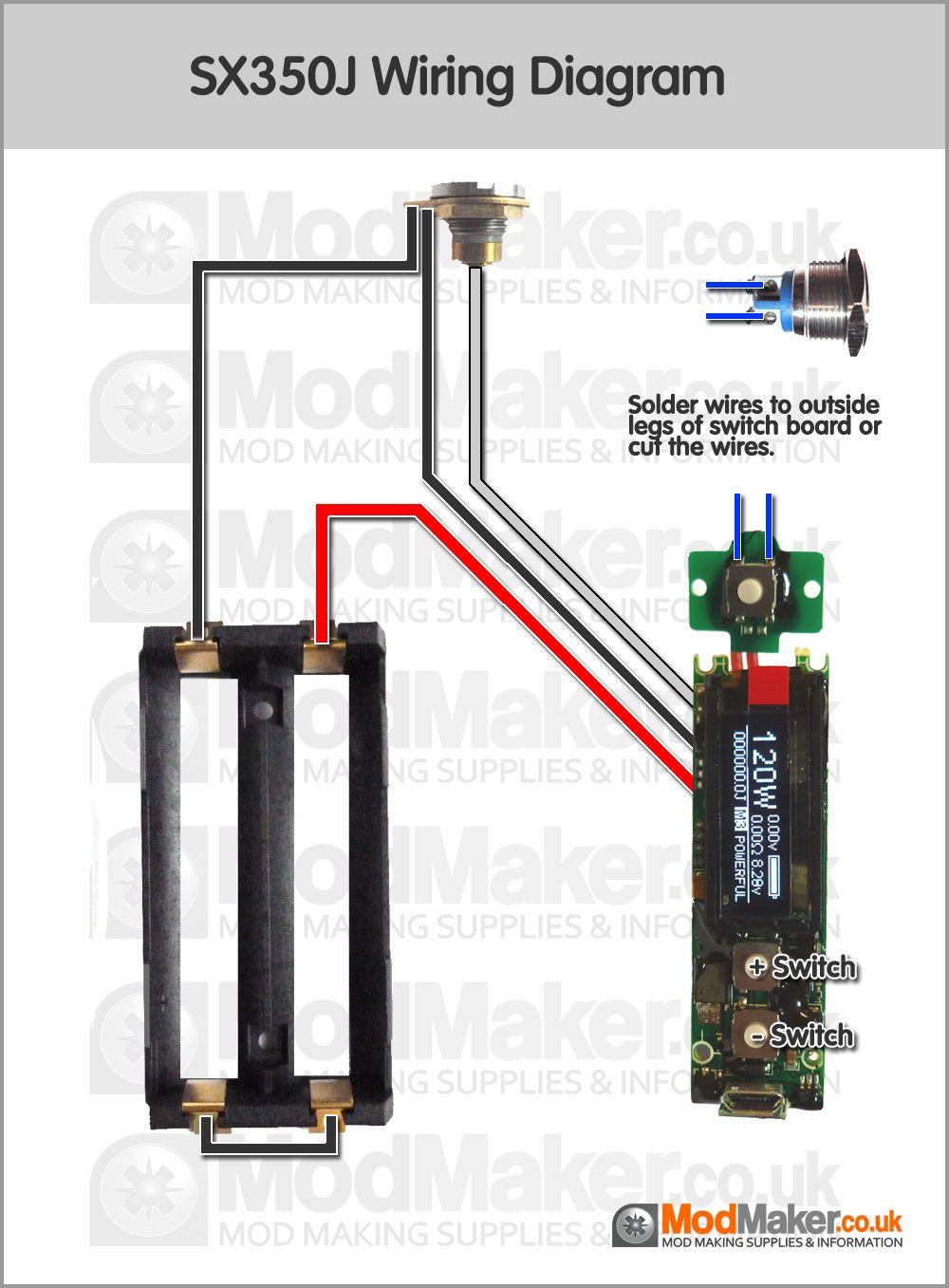 SX350J Wiring Diagram | MOD BOX | Vape diy, Smok vape i