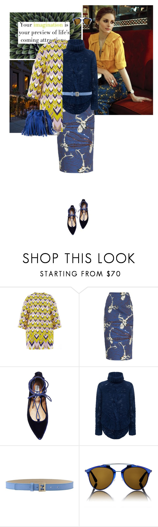"""""""Everything changes in the blink of an eye Its been a while. I still carry the flame I wanna know will I see you again? //Stardust - Mika (&Chiara)"""" by hil4ry ❤ liked on Polyvore featuring PLANT, Giambattista Valli, Stella Jean, Steve Madden, C/MEO COLLECTIVE, Fendi, Christian Dior, STELLA McCARTNEY, women's clothing and women's fashion"""