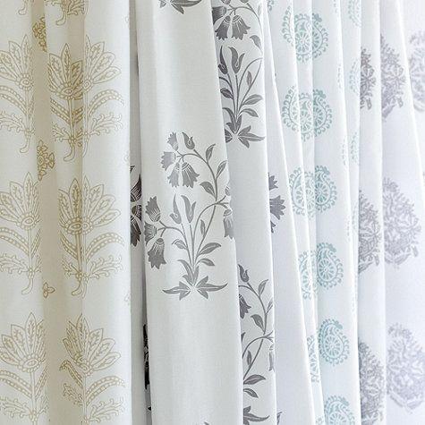 Ava Block Print Shower Curtains From Ballard Designs Gray For