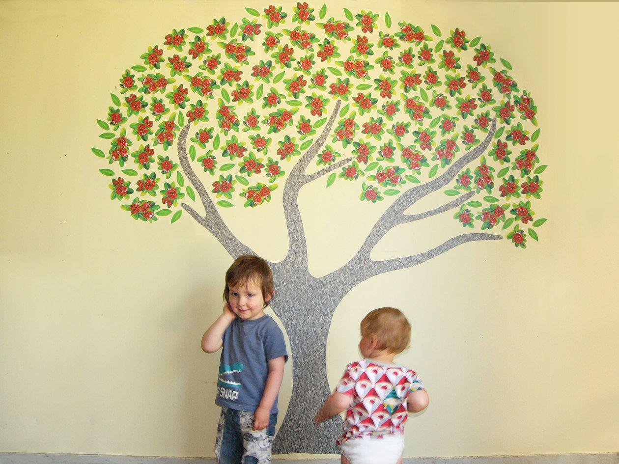 Pohutukawa tree wall decal large wall mural New Zealand | Christmas ...