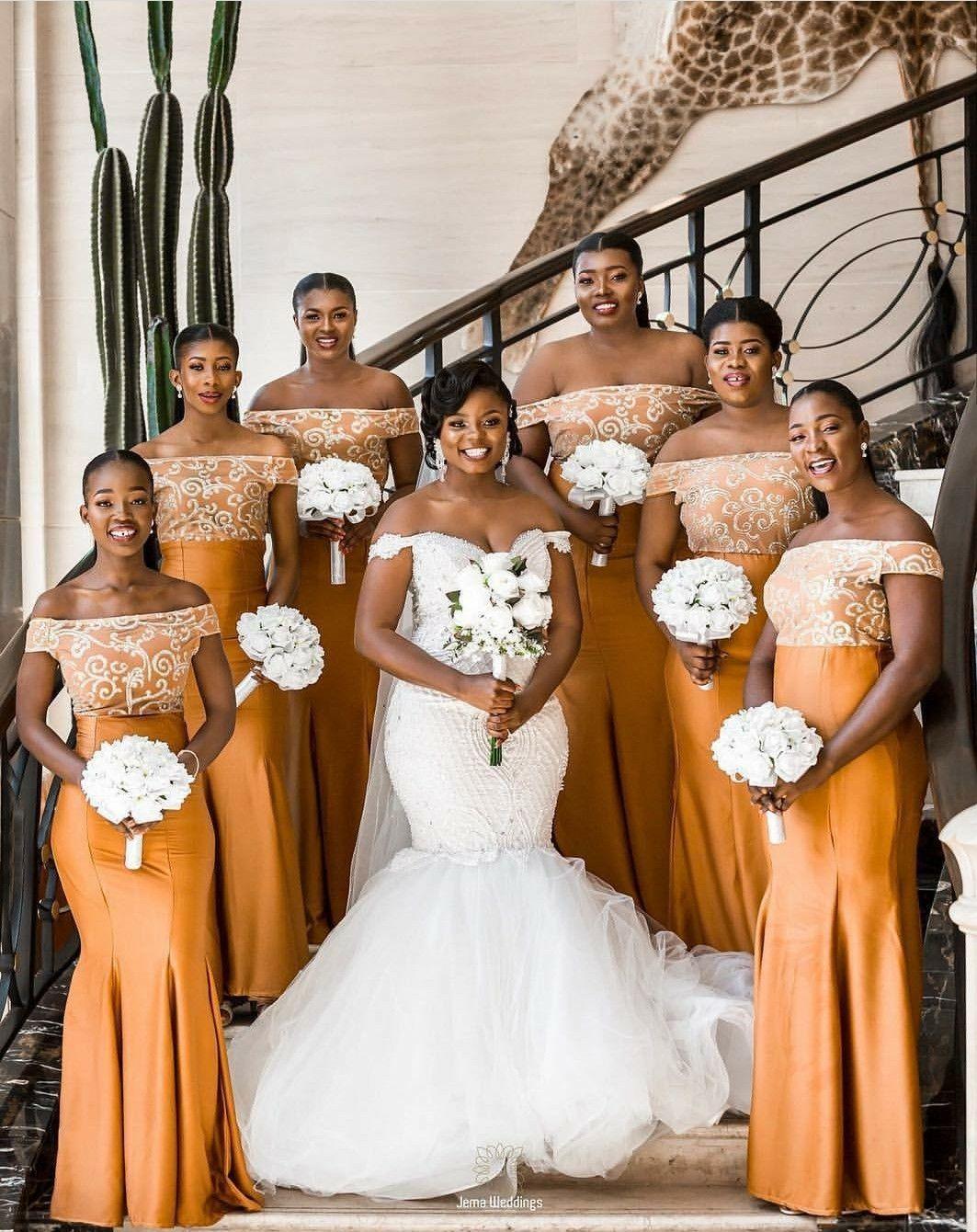 My Dress African Bridesmaid Dresses African Wedding Attire Yellow Bridesmaid Dresses