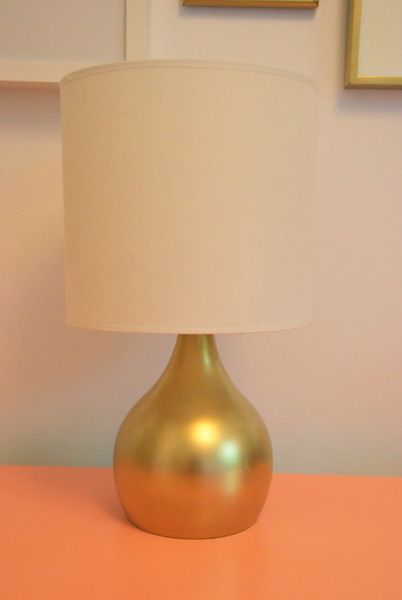 Spray Paint For The Win Gold Lamp Base Old Lamps Gold Lamp