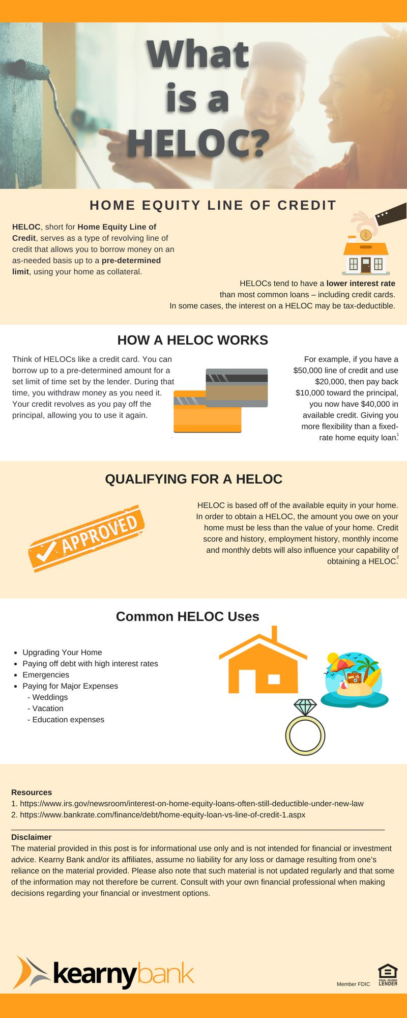 Quick And Easy Helpful Infographic About What A Heloc Is