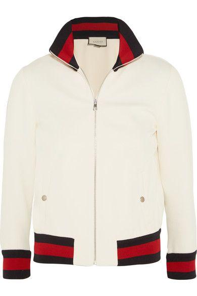 Gucci   Twill bomber jacket   NET-A-PORTER.COM   textiles folio ... 32047b891c9