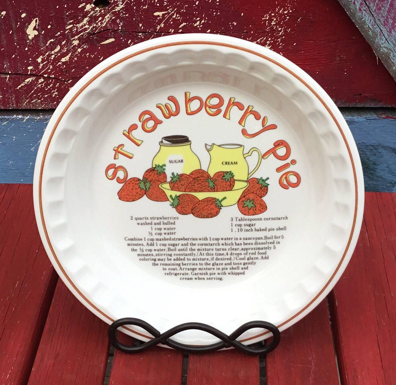 Your Place To Buy And Sell All Things Handmade Strawberry Recipes Kitchen Decor Items Pie Dish