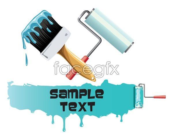Brush Paint Tool Vector