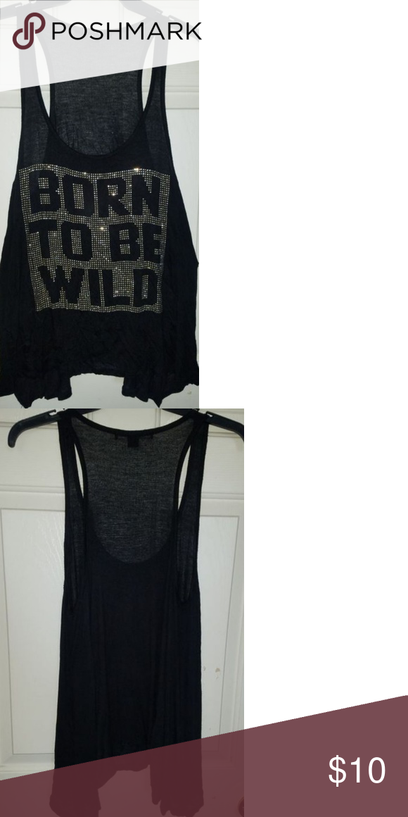 Used Black Pretty Sleeveless Blouse Size Large (With