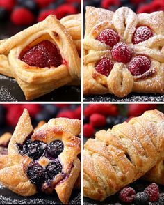 Here Are Four Ways To Make Incredibly Beautiful Desserts With Puff Pastry #recipeforpuffpastry