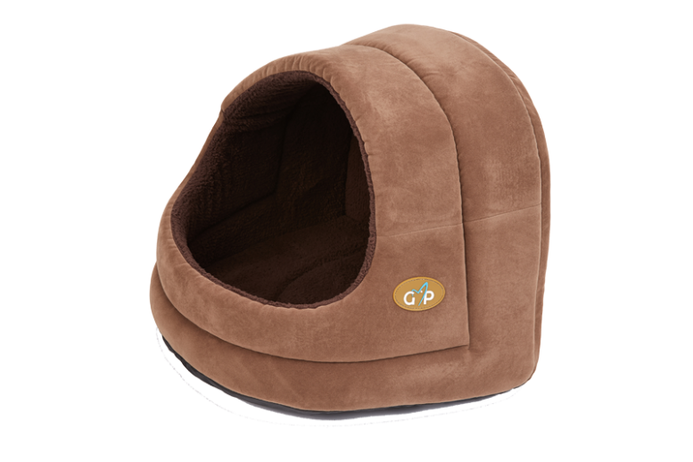 Gorpet Bruges Hooded Bed    These Gor Pets snuggle dens are a perfect place for cats to relax. The luxurious beds are hand finished with a braided edge and made from fire retardant foam. Washable at 40 degrees.
