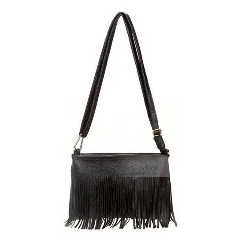 New Fashion Women Leather Shoulder Bags Vintage Tassel Designer Messenger Bag Luxury Ladies Handbag Clutch Bags Bolsa Feminina