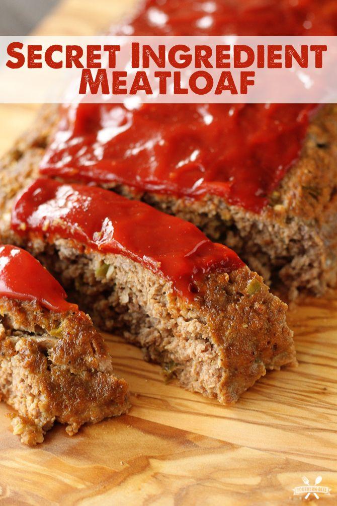 Secret Ingredient Meatloaf Recipe Secret Ingredient Meatloaf Good Meatloaf Recipe Recipes
