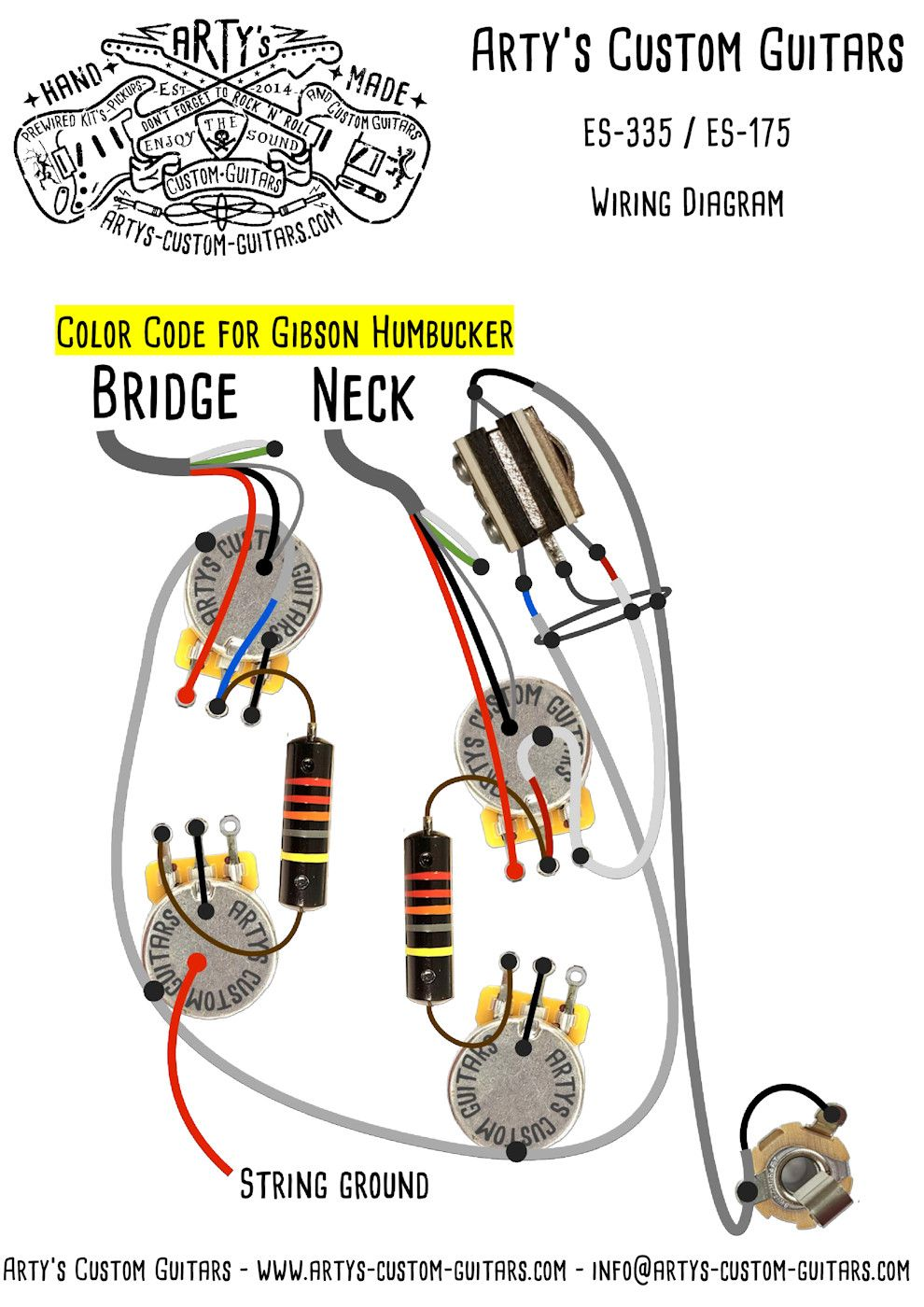 medium resolution of wiring diagram es 335 es 330 arty s custom guitars gibson es 335