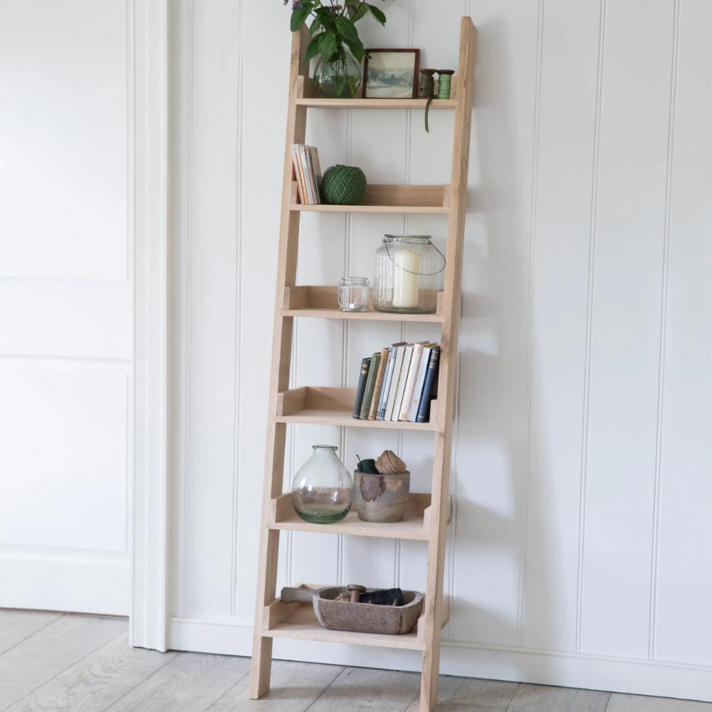 Hambledon Shelf Ladder In 2020 Ladder Shelf Decor Oak Shelves Shelves