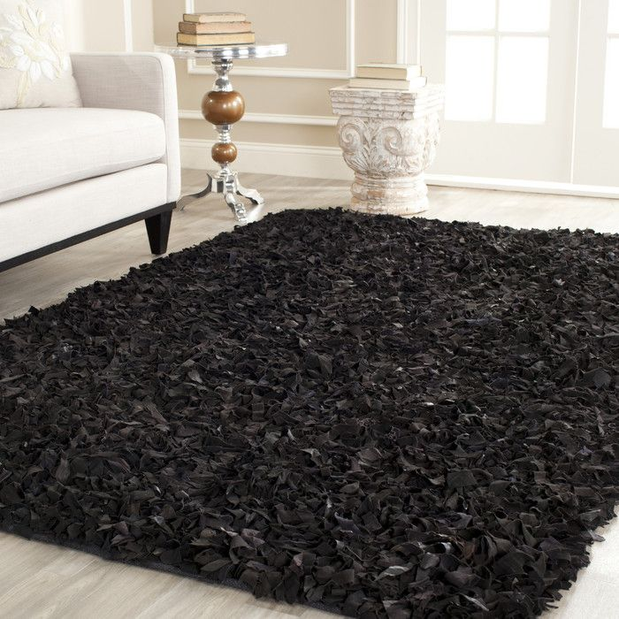 Safavieh Leather Black Rug Ii Reviews Wayfair Design