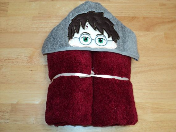 Wizard  Hooded Towel  Can be Personalized by fabricamore on Etsy