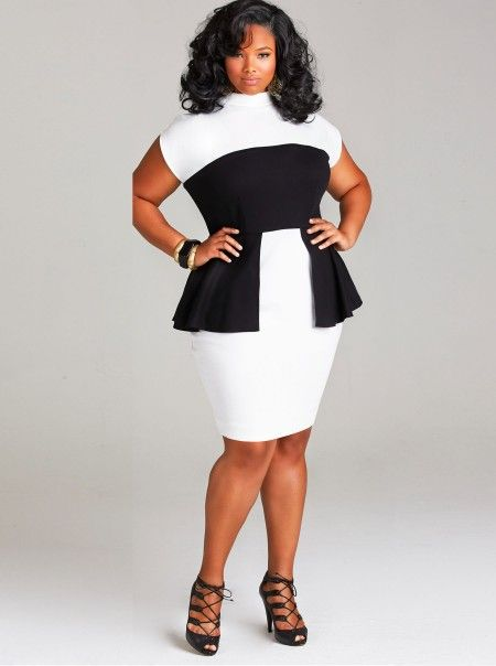 Awesome peplum dress from Monif C #plussize