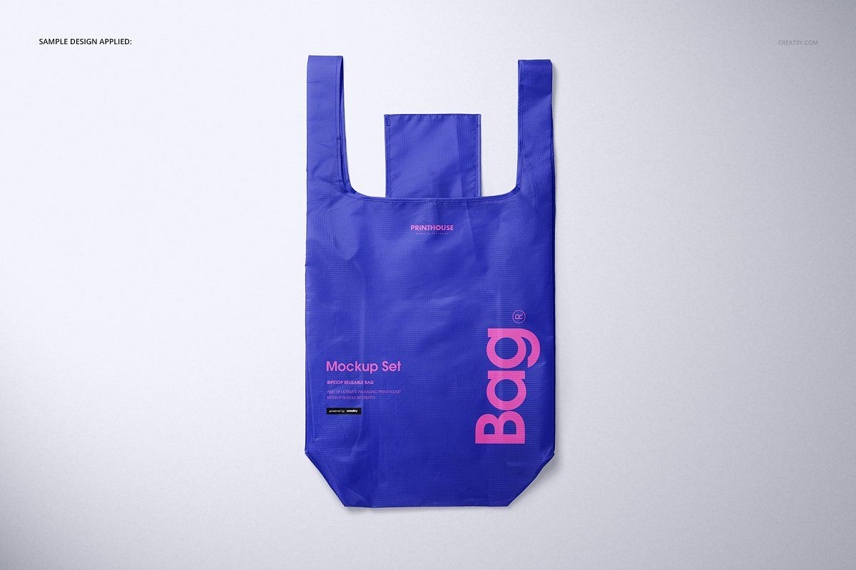Download Ripstop Reusable Bag Mockup Set Bag Mockup Reusable Bags Bags