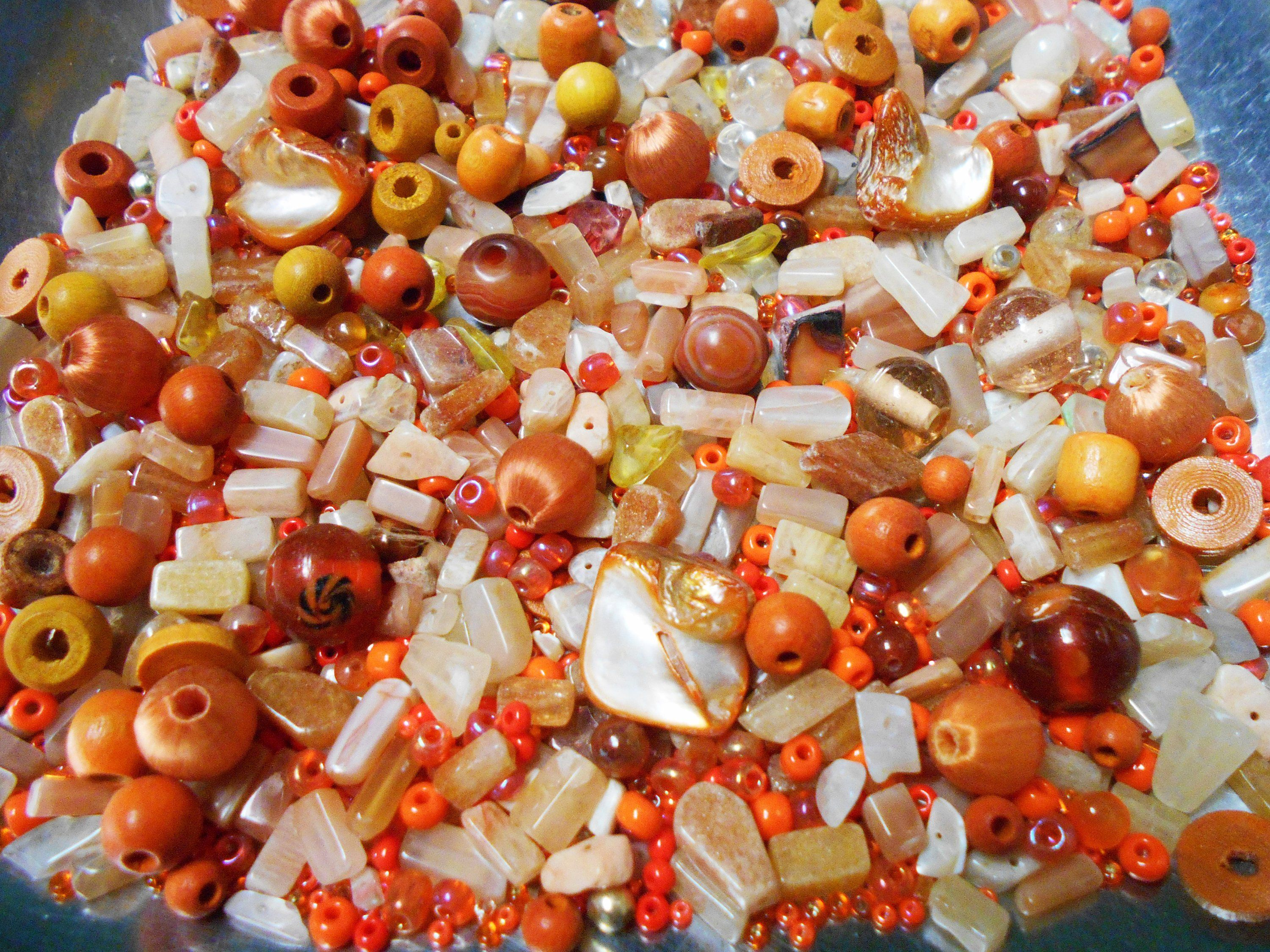 50 x Multi Coloured Spray Painted Glass Round Beads Size 8mm.