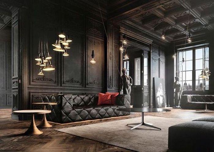 50+ Dramatic Living Room Ideas_24