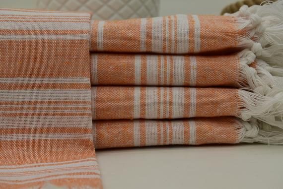 Wholesale Towel Orange Towel Beach Towel Turkish Towel Dish Towel