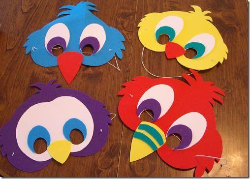 Goofy Bird Masks Hayvan Boyama Sayfalari Boyama Sayfalari Maskeler