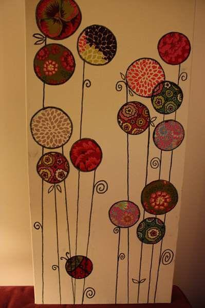 tableau fleur en tissu marqueurs tiges et cadres. Black Bedroom Furniture Sets. Home Design Ideas