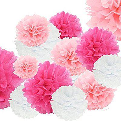 Amazon Com Pom Poms Tissue Balls Paper Flowers Balls For Wedding