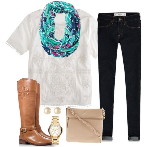 """""""statement scarf + tag"""" by tex-prep on Polyvore"""