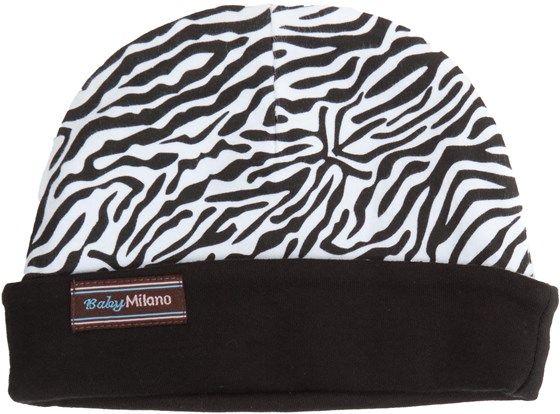 Zebra Print Baby Hat