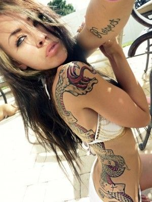 tattoo girls I would never get this but it looks SO BADASS ON HER.