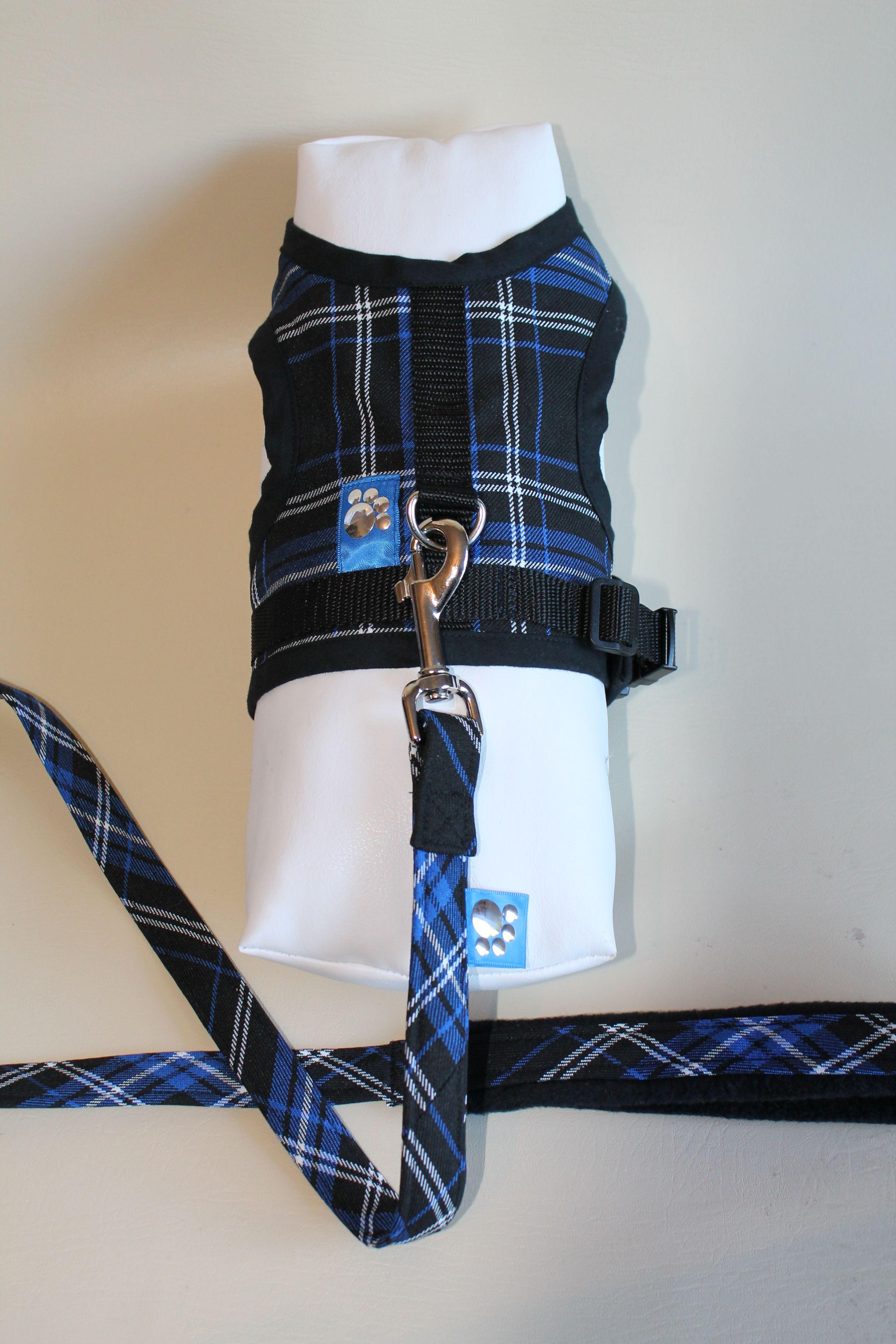 Blue Tartan Harness and Lead Set... now £12.99