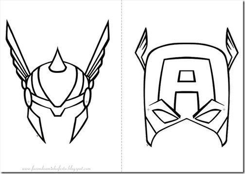 Antifaces De Capitan America Para Imprimir Antifaz Super Heroes Imprimir Sobres Capitan America