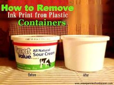 "How to Remove Ink from Plastic Containers...Now I can identify leftovers in my frugal ""tupperware""!"